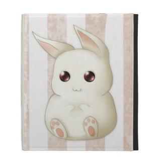 Cute Puffy Kawaii Bunny Rabbit iPad Cases