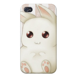 Cute Puffy Kawaii Bunny Rabbit iPhone 4/4S Cover