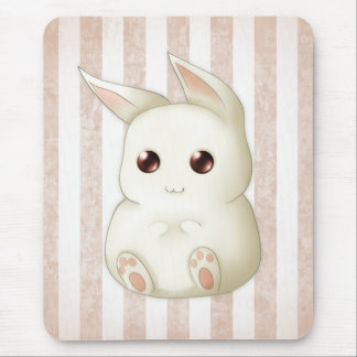 Cute Puffy Kawaii Bunny Rabbit Mouse Pad