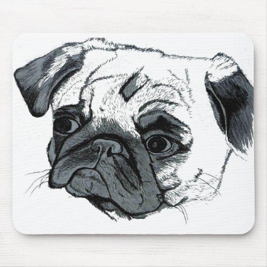 Cute Pug Art Mousepad