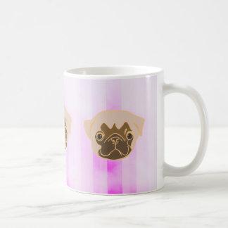 Cute Pug Carton Coffee Mug