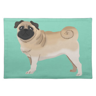 Cute Pug Cloth Placemat