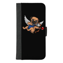 iPhone 8/7 Plus Wallet Case with Pug Phone Cases design