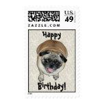 Cute Pug Dog Birthday Stamp