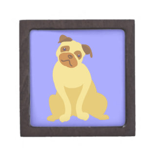 Cute Pug Dog Keepsake Box