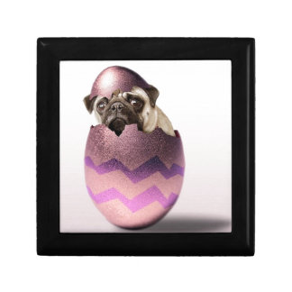 Cute Pug Easter Egg Design Gift Box