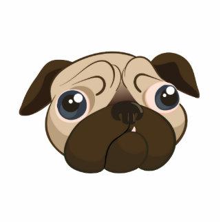 Cute Pug Face Cutout