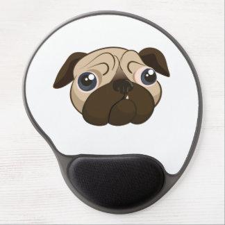 Cute Pug Face Gel Mouse Pads