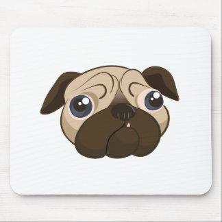 Cute Pug Face Mouse Pad