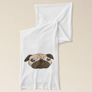 Cute Pug Face Scarf