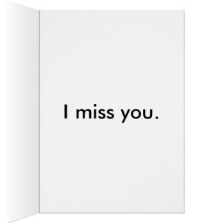 Cute Pug Greeting Card - I Miss You