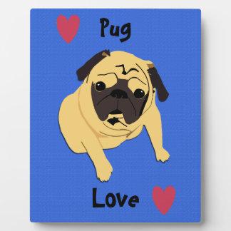 Cute Pug Love Dog Plaque