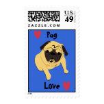 Cute Pug Love Dog Postage