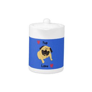 Cute Pug Love Dog Teapot