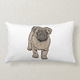 Cute Pug Lumbar Pillow 33 cm x 53 cm