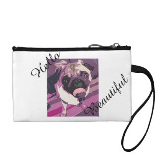 Cute Pug Makeup Bag/Clutch - Hello Beautiful Coin Purse