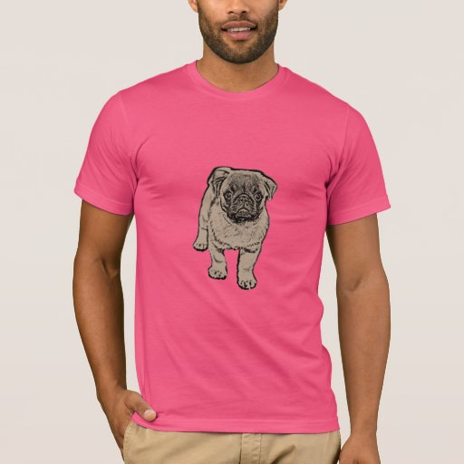 Cute Pug Men 39 S Super Soft T Shirt Pink Zazzle