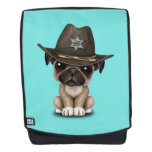 Cute Pug Puppy Dog Sheriff Backpack