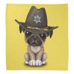 Cute Pug Puppy Dog Sheriff Bandana