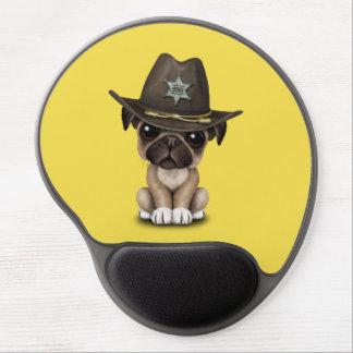 Cute Pug Puppy Dog Sheriff Gel Mouse Pad