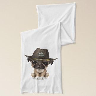Cute Pug Puppy Dog Sheriff Scarf