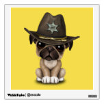Cute Pug Puppy Dog Sheriff Wall Decal