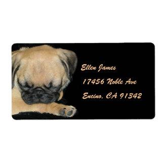 Cute Pug Puppy Label