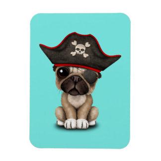 Cute Pug Puppy Pirate Magnet