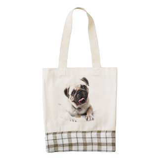 Cute Pug Puppy Zazzle HEART Tote Bag