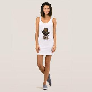 Cute Pug Puppy Zombie Hunter Sleeveless Dress