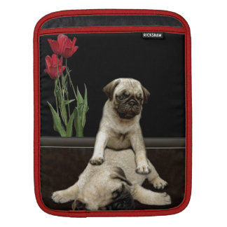 Cute Pug Pups Dog-lovers Gift Series Sleeve For iPads