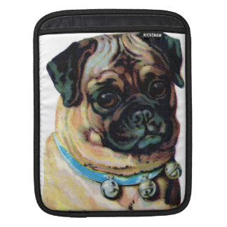 Cute Pug Vintage Drawing iPad Cover Sleeves For iPads