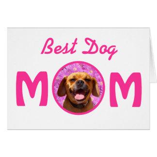 Cute Puggle Dog Mom Card