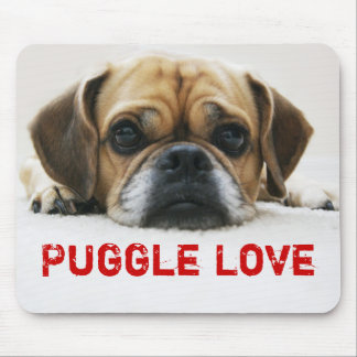 Cute Puggle Love Mousepad