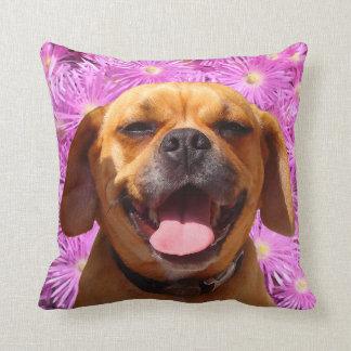 Cute Puggle Throw Pillow