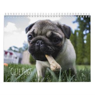 Cute Pugs Dogs Calendar - Customizable
