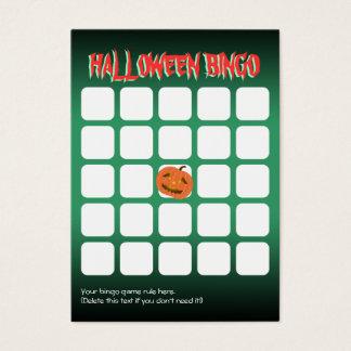 Cute Pumpkin 5x5 Scary Halloween Party Bingo Card