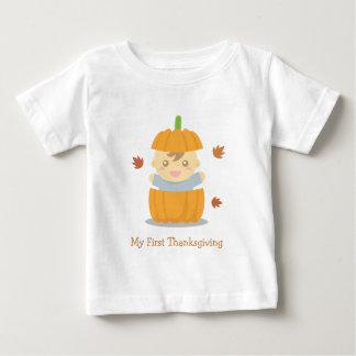 Cute Pumpkin Baby First Thanksgiving Baby T-Shirt