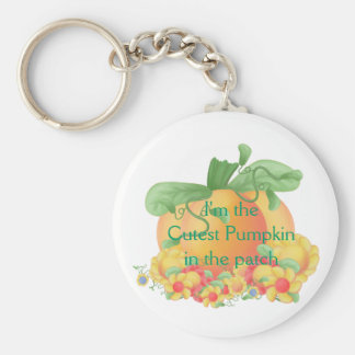 Cute Pumpkin Basic Round Button Keychain