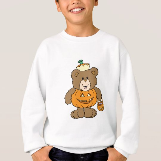 Cute Pumpkin Bear Sweatshirt