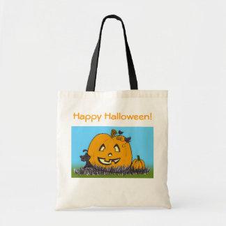 Cute Pumpkin & Cat Halloween Bag