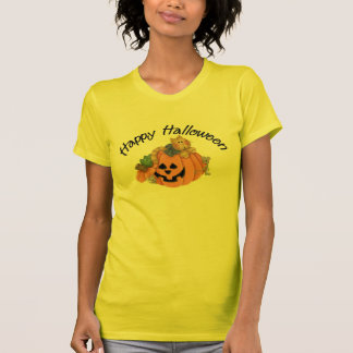 Cute Pumpkin Cat with Mice Happy Halloween D1 Tees