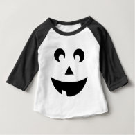 Cute Pumpkin Face Baby Costume Baby T-Shirt