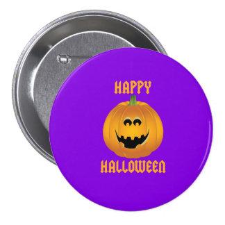 Cute Pumpkin Face Happy Halloween Pin Badge