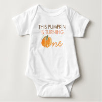 Cute Pumpkin first Birthday Baby Shirt