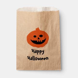 Cute Pumpkin Halloween  Design Favor Bag