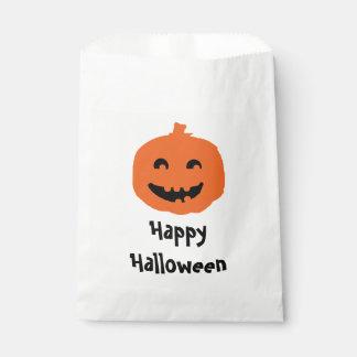 Cute Pumpkin Halloween Party Candy Favor Bag