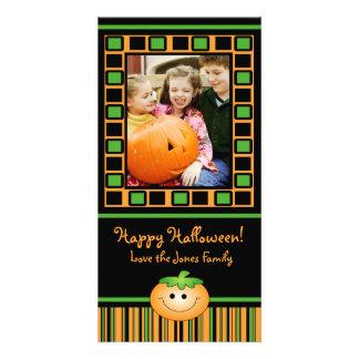 Cute Pumpkin Halloween Photo Card