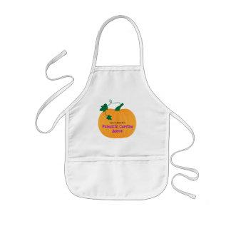 Cute Pumpkin, Halloween Pumpkin Carving Kids' Apron