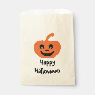 Cute Pumpkin Happy Halloween Favor Bag
